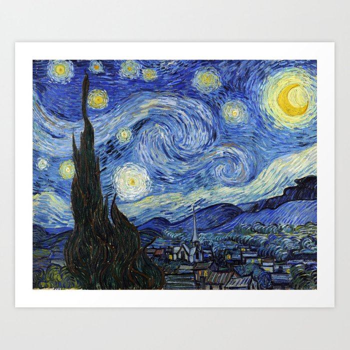 Starry Night by Vincent Van Gogh Kunstdrucke