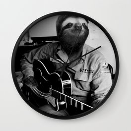 Rockstar Sloth #3 Wall Clock