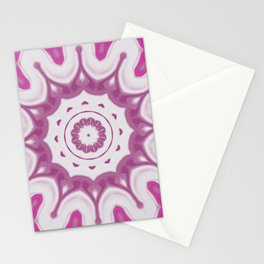 Amethyst & Hot Pink Gemstone Liquid White Smoke Kaleidoscope 3 Digital Painting Stationery Cards