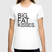 psych T-shirts featuring big fat kisses, shawn and julia, psych by studiomarshallarts