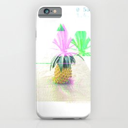 GLITCH NATURE #21: Happy Pineapple iPhone Case