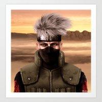 kakashi Art Prints featuring Kopi ninja no Kakashi by Shibuz4