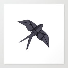 Origami Swallow Canvas Print