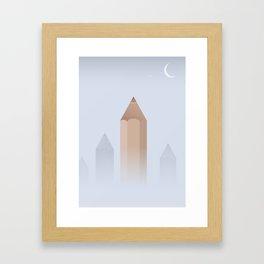 Pencils in the Sky Framed Art Print