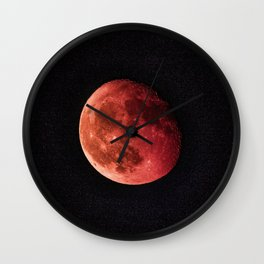 Blood Moon (Color) Wall Clock