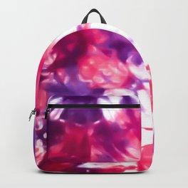 Modern Artsy Abstract Neon Pink Purple Tie Dye Backpack