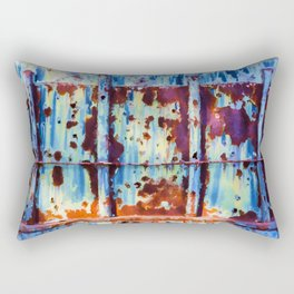 Colorful Rust Abstract II Rectangular Pillow