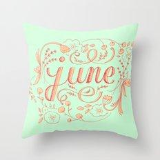 June Throw Pillow