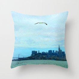 SF SKYLINE Throw Pillow