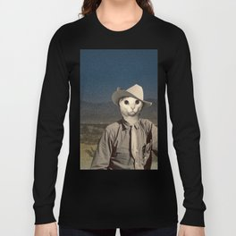 Rhinestone Cowboy cat Long Sleeve T-shirt