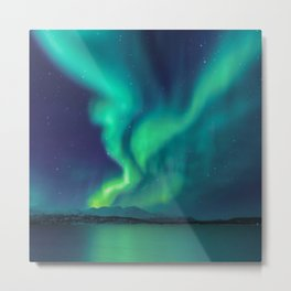Aurora Borealis Lights Up the Sky (Northern Lights) Metal Print