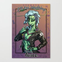 Anything Twice Canvas Print