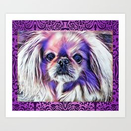 Peak in purple Art Print