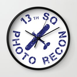 13th Photo Recon SQ L-4 Cub Wall Clock
