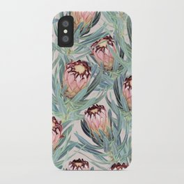 Pale Painted Protea Neriifolia iPhone Case
