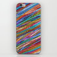 olivia joy iPhone & iPod Skins featuring Joy Strings by Joke Vermeer