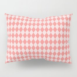 Coral Harlequin Pillow Sham