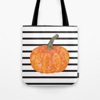 pumpkin Tote Bags featuring pumpkin by AleDan