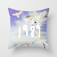 1989 Throw Pillows featuring 1989 by *starbucks*