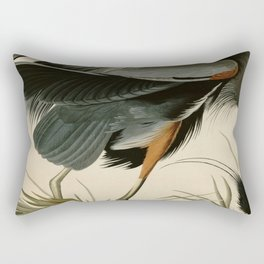 Great Blue Heron Rectangular Pillow