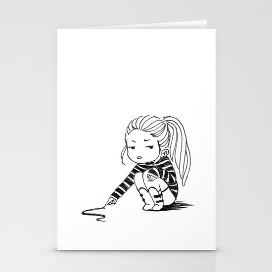 Bored Girl Stationery Cards
