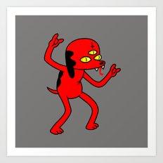 Satan's Little Helper Art Print