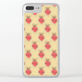 Sacred Heart Clear iPhone Case