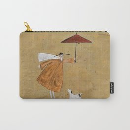 Man With Umbrella   Carry-All Pouch