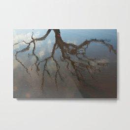 Dead Tree Reflection Metal Print