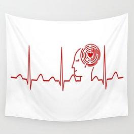 Psychology Teacher Heartbeat Wall Tapestry