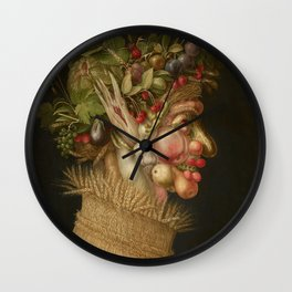 Summer by Giuseppe Arcimboldo Wall Clock