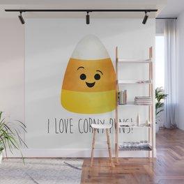 I Love Corny Puns! Wall Mural