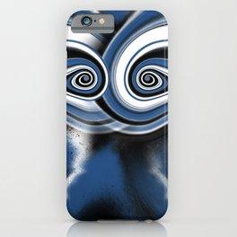Hypnotised   blue iPhone Case