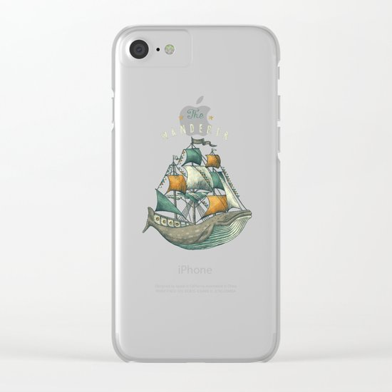 Whale | Petrol Grey Clear iPhone Case