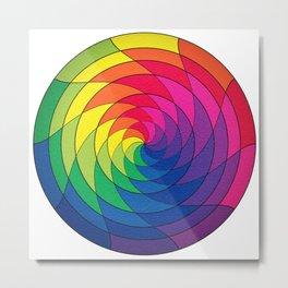 Pride Mandala Metal Print