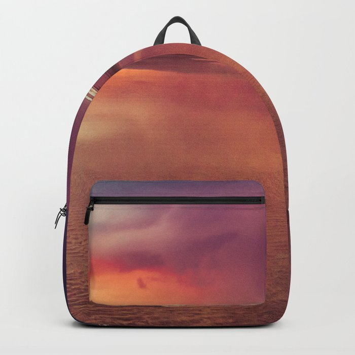 Take Me There Beach Sunset Quote Backpack