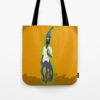 fallout Tote Bags featuring Fallout Squid by PhantomAmber