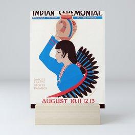 Gallup Inter-Tribal Indian Ceremonial - Vintage Poster Mini Art Print