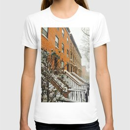 Brooklyn Wintertime is coming Brownstone T-shirt