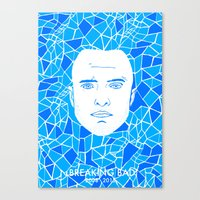 jesse pinkman Canvas Prints featuring Jesse Pinkman by Matt Ferguson
