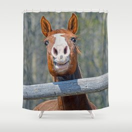 Horse Humour Shower Curtain