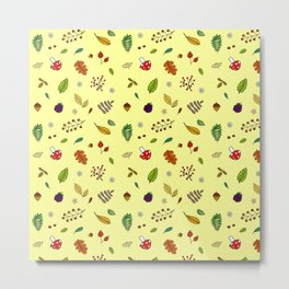 Autumnal Pattern Metal Print