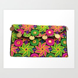 Designer Vintage Style Ladies Clutch Bag Art Print
