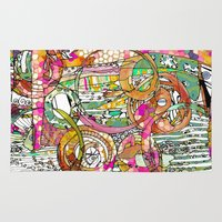 artsy Area & Throw Rugs featuring Artsy Lines by Ingrid Padilla
