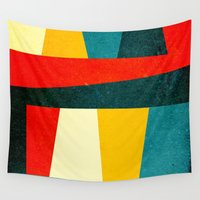 large Wall Tapestries featuring Formas 43 large by Alexandre Reis