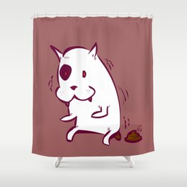 dog poo Shower Curtain