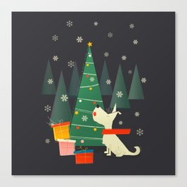 Little White Christmas Westie Canvas Print