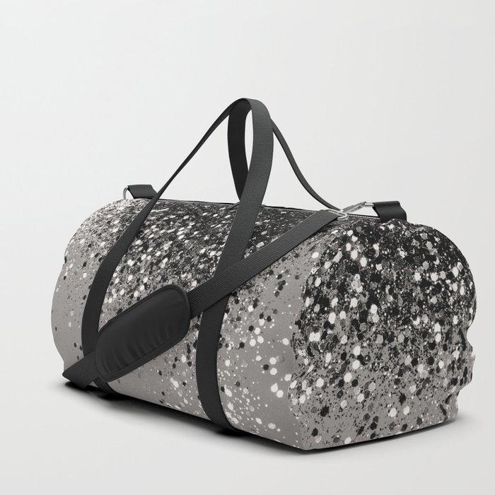 Silver Gray Glitter #1 #shiny #decor #art #society6 Duffle Bag