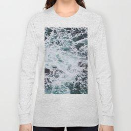 OCEAN - ROCKS - FOAM - SEA - PHOTOGRAPHY - NATURE Long Sleeve T-shirt
