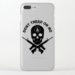 Don't Tread On Me Gadsden Skull Rifles Clear iPhone Case